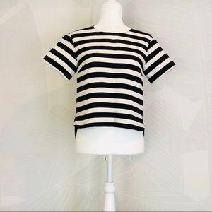 Kate Spade black and white stripe top